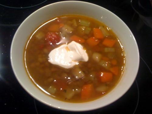 Lēcu zupa
