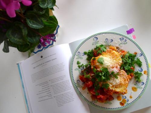 Šakšuka jeb olas tomātu mērcē