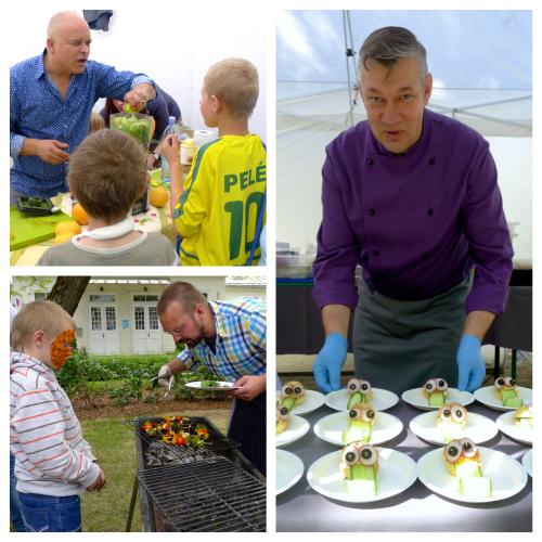 Pavāri darbā - Elmārs Tannis, Kārlis Celms un Ingmārs Ladigs cienā mazos un lielos svētku viesus