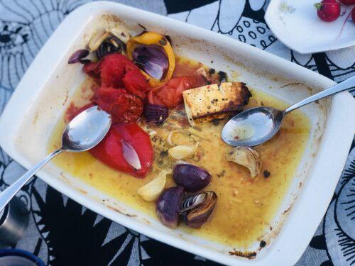Cepti grieķu salāti